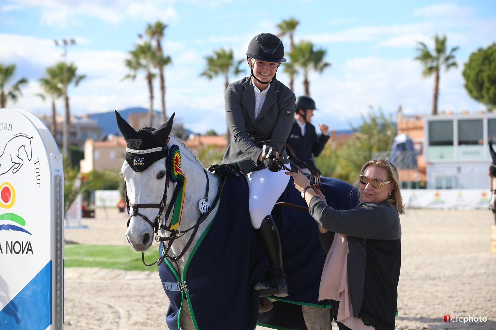Ruby Fryer winning at Oliva Nova MET