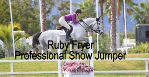 Professional Show Jumper Ruby Fryer