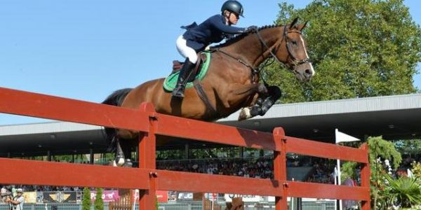Grand Prix Show Jumper Julie Andrews competing well