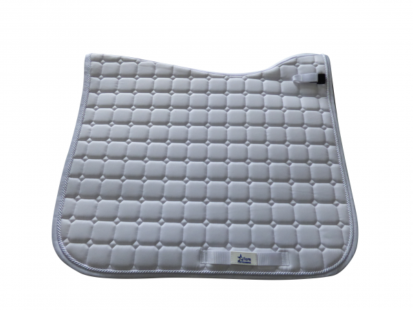White MicroPerformance ProSport Dressage saddle cloths